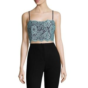 Free People Navy Lace Ollie Brami Crop Cami XS/S